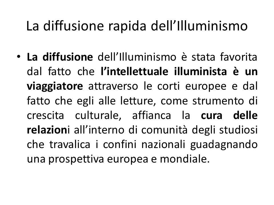La diffusione rapida dell'Illuminismo