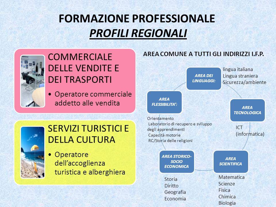 FORMAZIONE PROFESSIONALE PROFILI REGIONALI