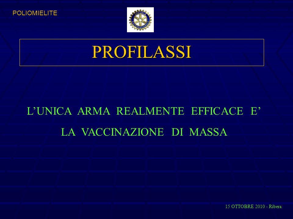 PROFILASSI L'UNICA ARMA REALMENTE EFFICACE E' LA VACCINAZIONE DI MASSA