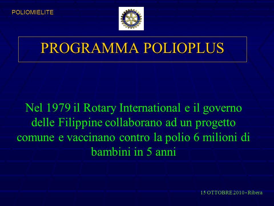 POLIOMIELITE PROGRAMMA POLIOPLUS.