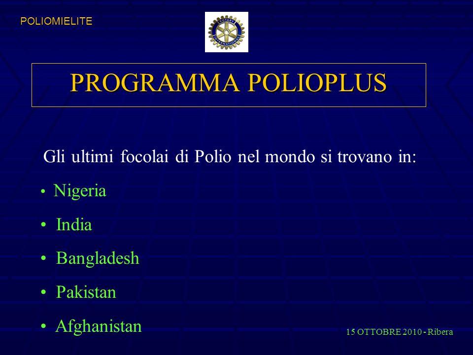 Gli ultimi focolai di Polio nel mondo si trovano in: