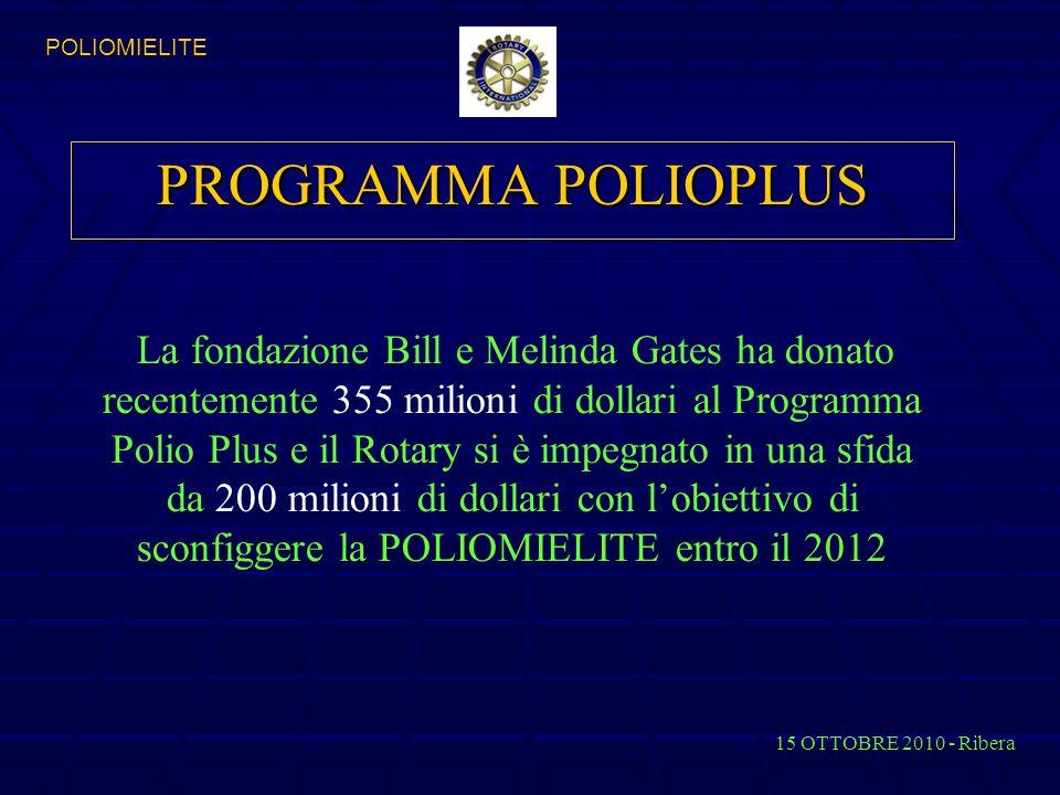 PROGRAMMA POLIOPLUS POLIOMIELITE