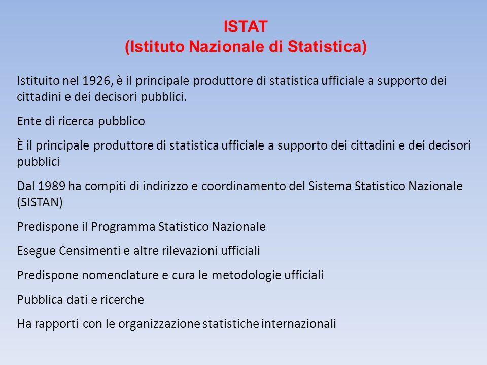 ISTAT (Istituto Nazionale di Statistica)