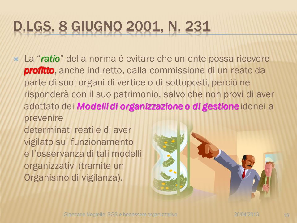 D.Lgs. 8 giugno 2001, n. 231