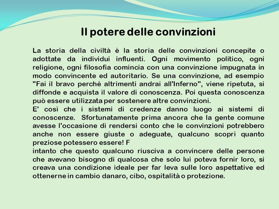 Il potere delle convinzioni