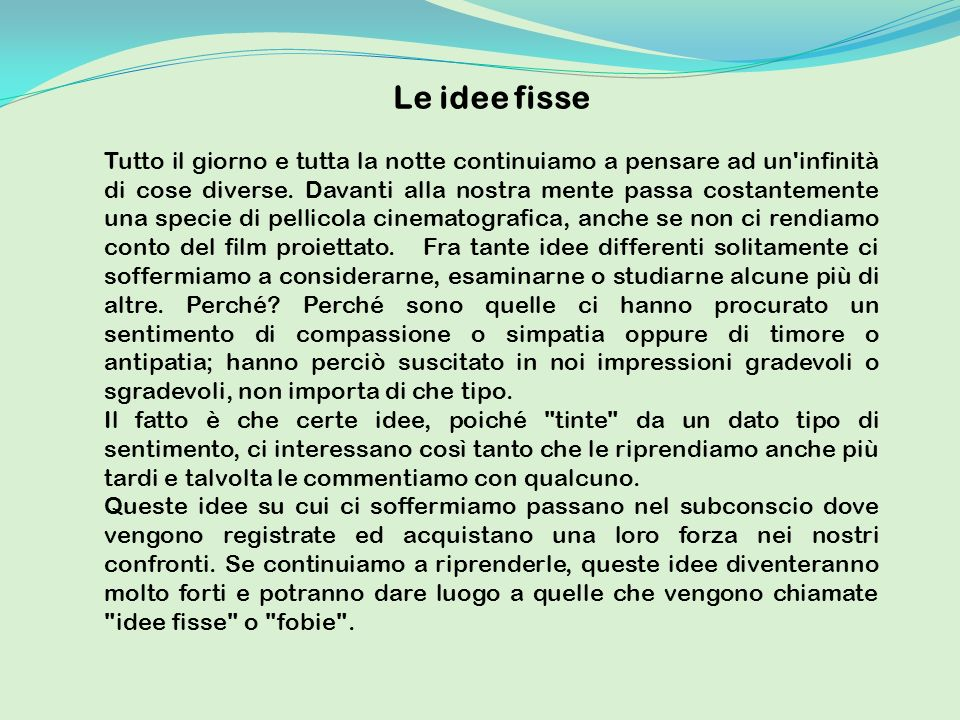 Le idee fisse
