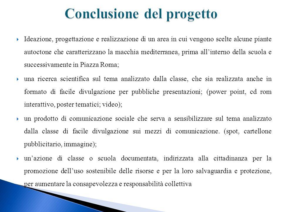Conclusione del progetto