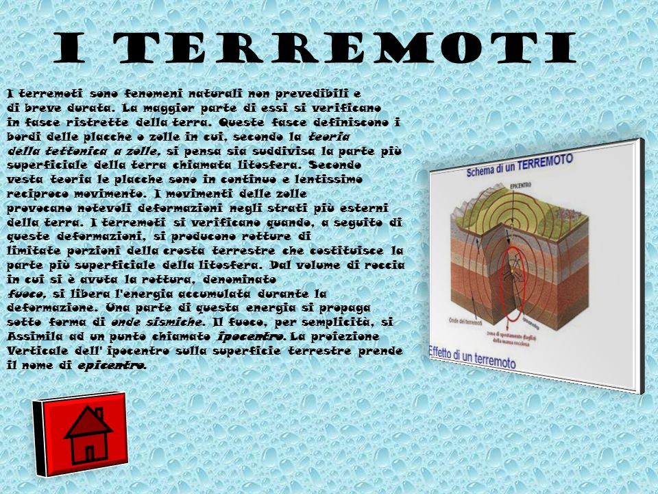 I TERREMOTI I terremoti sono fenomeni naturali non prevedibili e