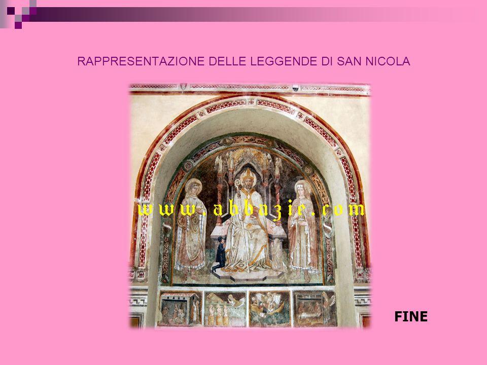 RAPPRESENTAZIONE DELLE LEGGENDE DI SAN NICOLA