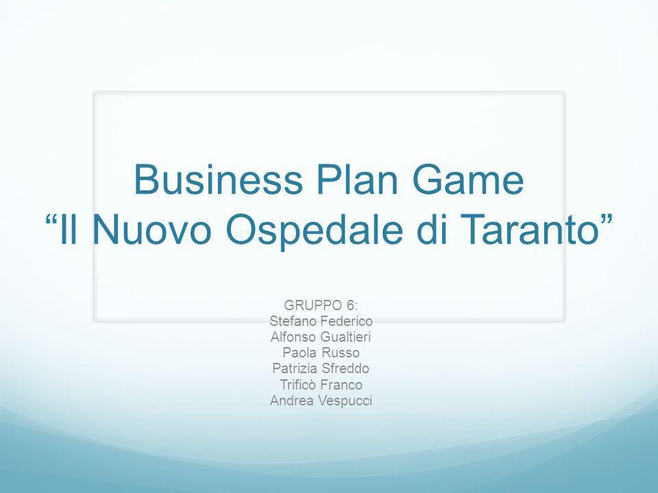 Business Plan Game Il Nuovo Ospedale di Taranto