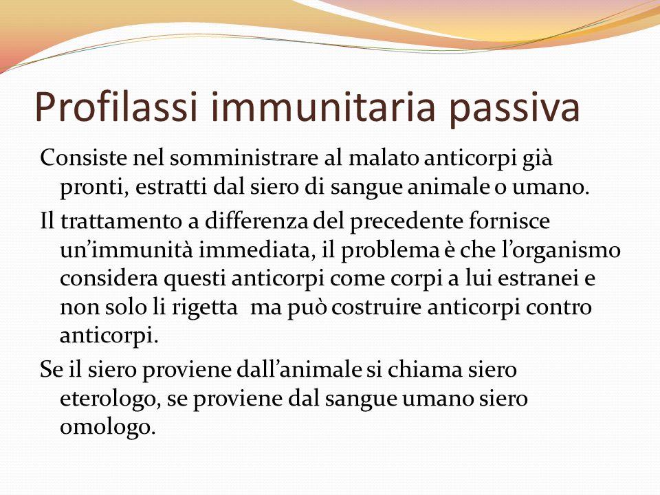 Profilassi immunitaria passiva