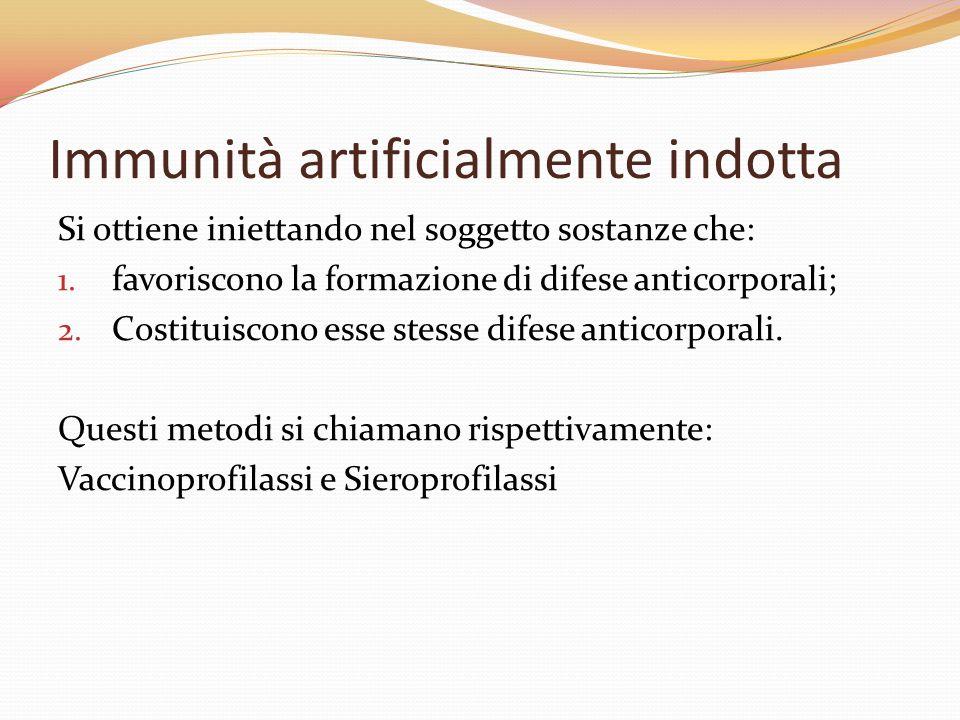 Immunità artificialmente indotta