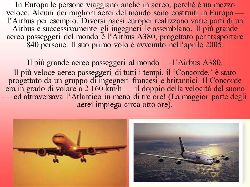 Il più grande aereo passeggeri al mondo — l'Airbus A380.