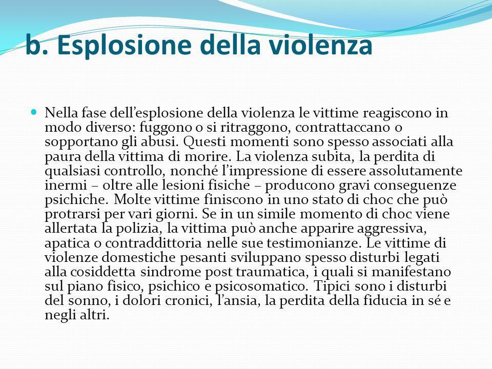 b. Esplosione della violenza