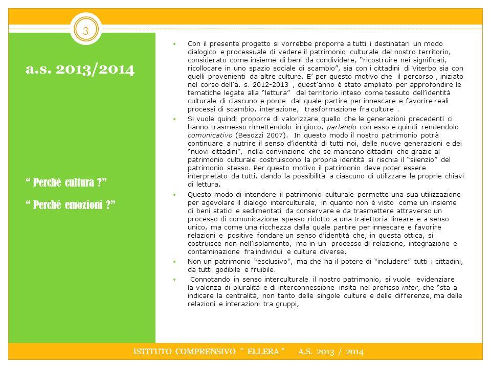 ISTITUTO COMPRENSIVO ELLERA A.S. 2013 / 2014