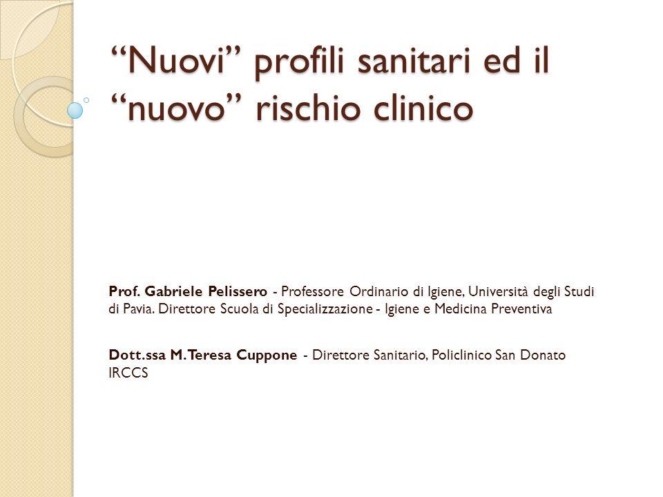 Nuovi profili sanitari ed il nuovo rischio clinico