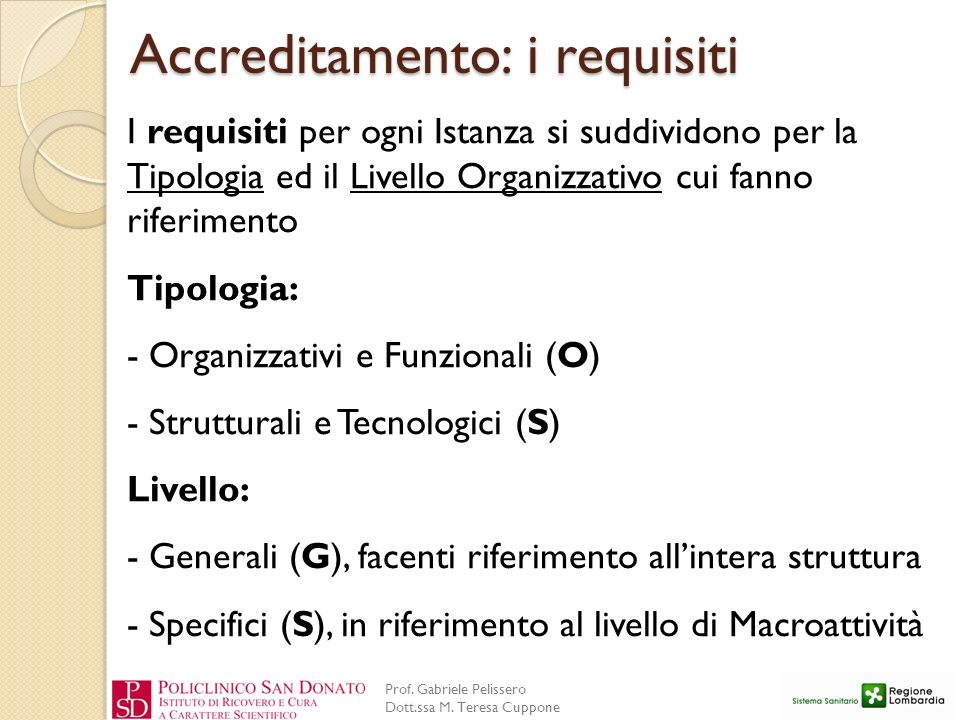Accreditamento: i requisiti