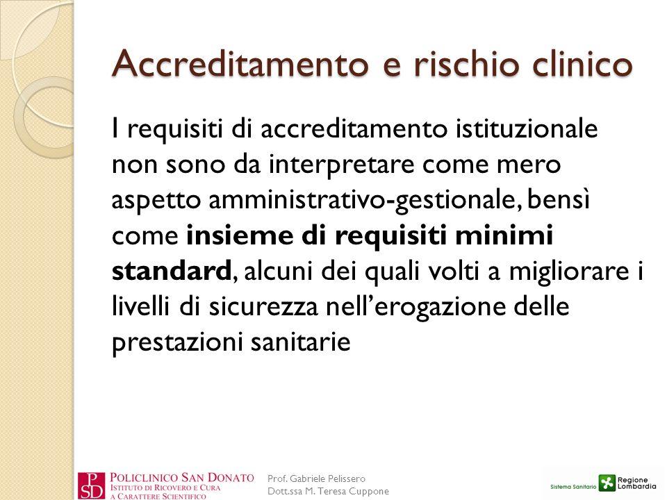 Accreditamento e rischio clinico