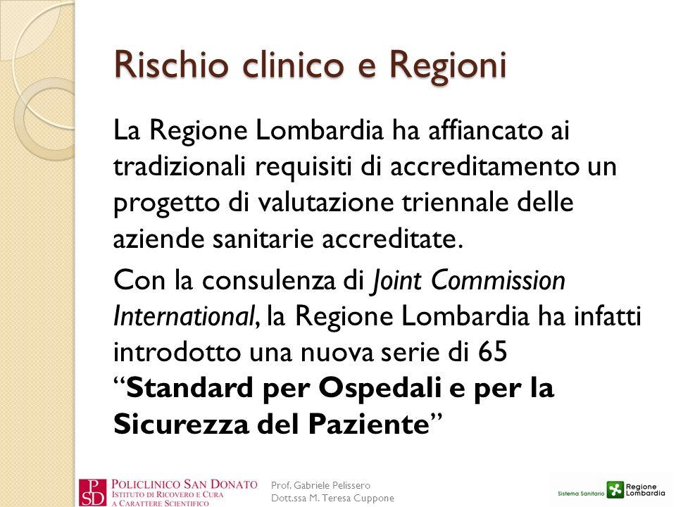 Rischio clinico e Regioni