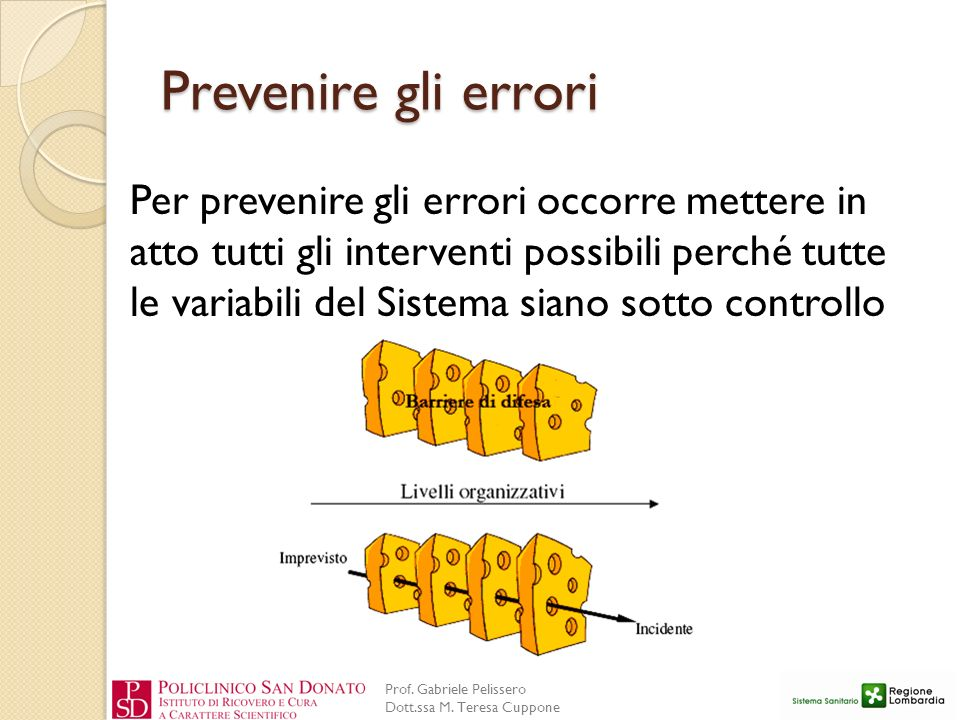 Prevenire gli errori