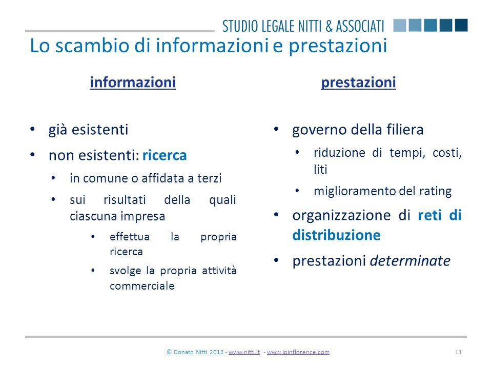 Lo scambio di informazioni e prestazioni