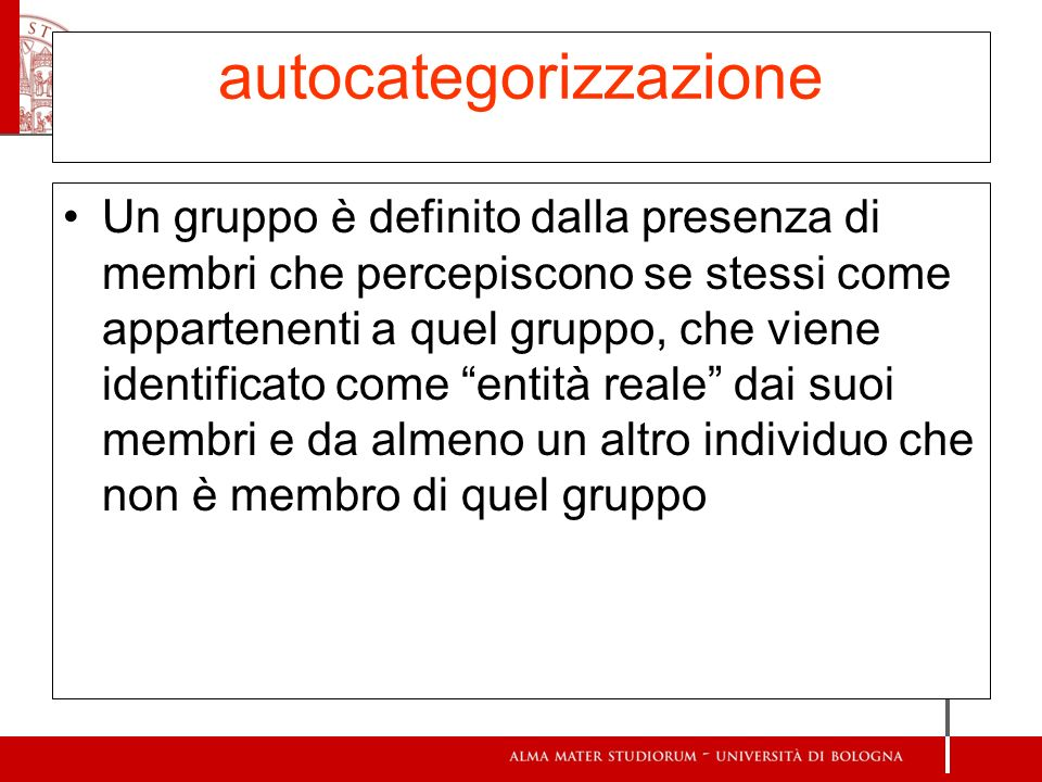 autocategorizzazione
