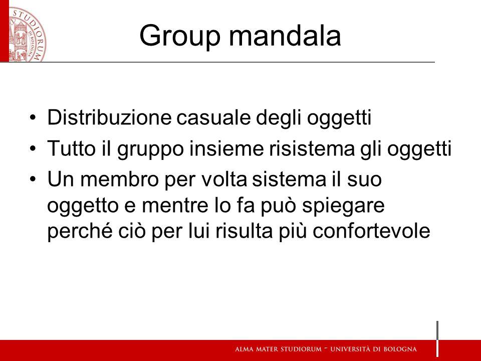 Group mandala Distribuzione casuale degli oggetti