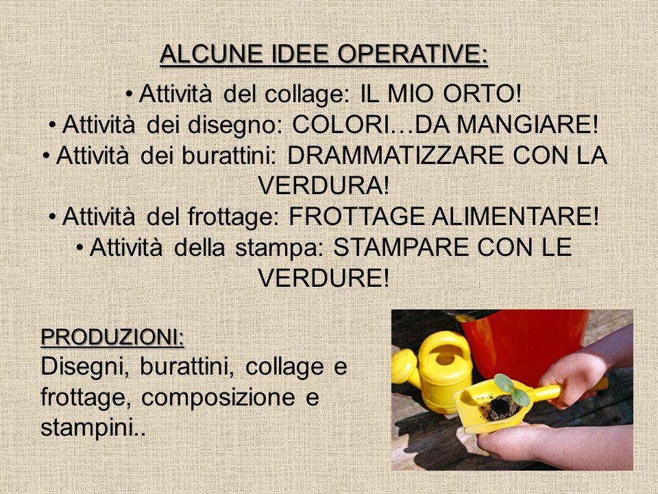 ALCUNE IDEE OPERATIVE: Attività del collage: IL MIO ORTO!