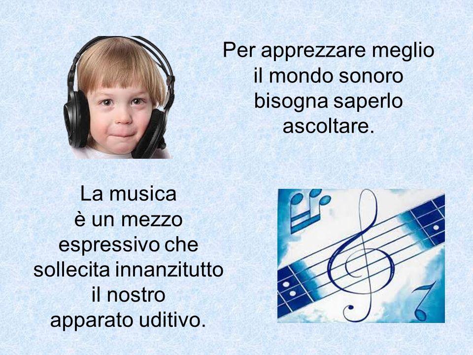 Per apprezzare meglio il mondo sonoro bisogna saperlo ascoltare.