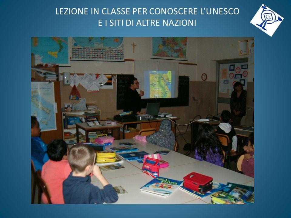 LEZIONE IN CLASSE PER CONOSCERE L'UNESCO E I SITI DI ALTRE NAZIONI