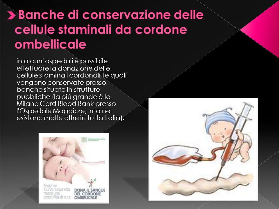 Banche di conservazione delle cellule staminali da cordone ombellicale