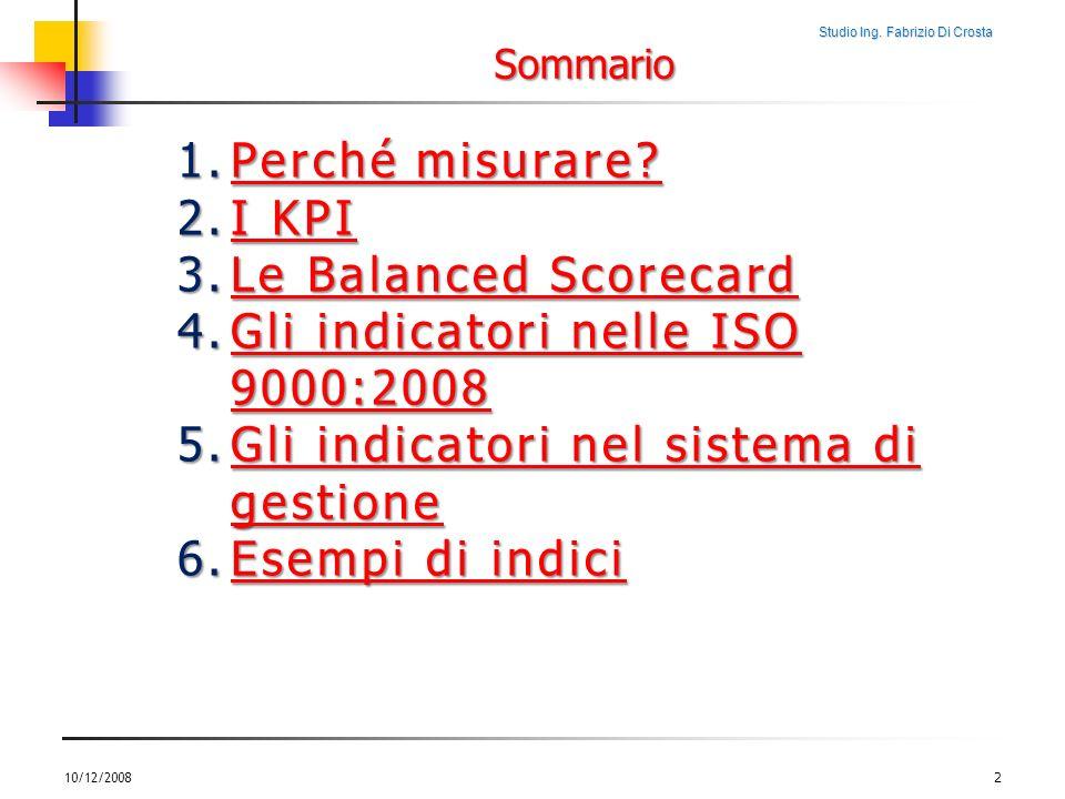 Gli indicatori nelle ISO 9000:2008