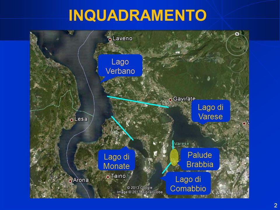 INQUADRAMENTO Lago Verbano Lago di Varese Palude Brabbia