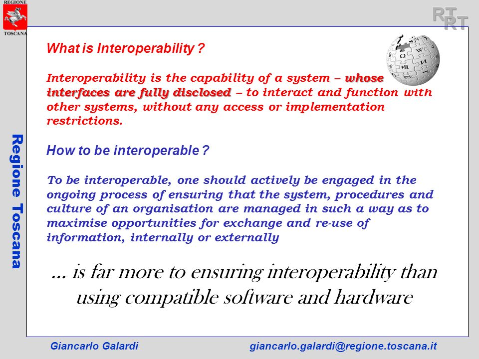 RT RT. What is Interoperability