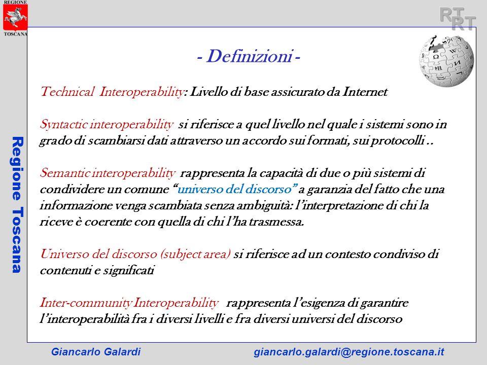 RT RT - Definizioni - Regione Toscana