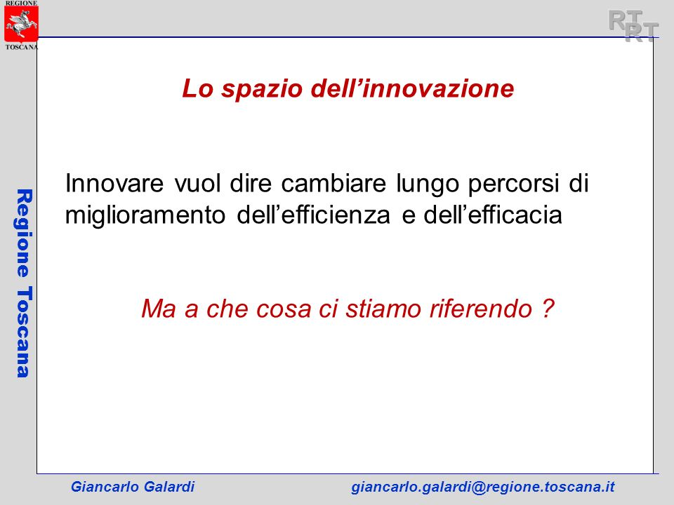 Lo spazio dell'innovazione