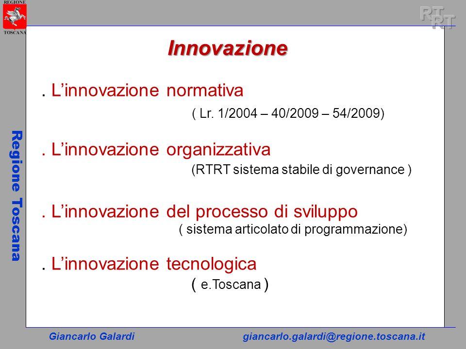 Innovazione RT RT . L'innovazione normativa