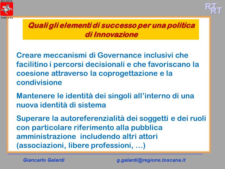 Quali gli elementi di successo per una politica di Innovazione