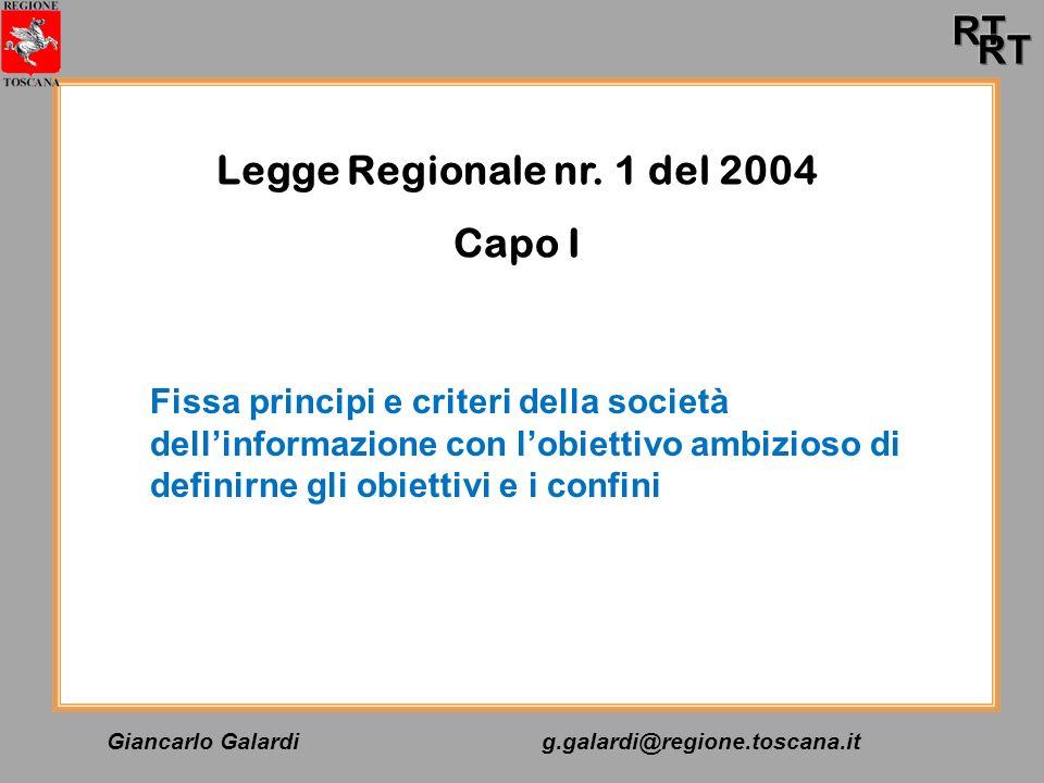 Legge Regionale nr. 1 del 2004 Capo I