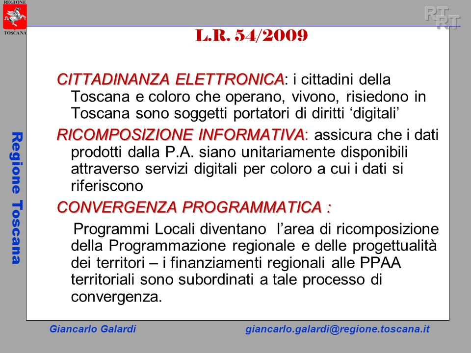 RT RT. L.R. 54/2009.