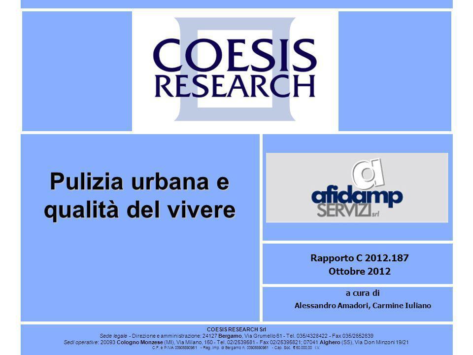 Pulizia urbana e qualità del vivere