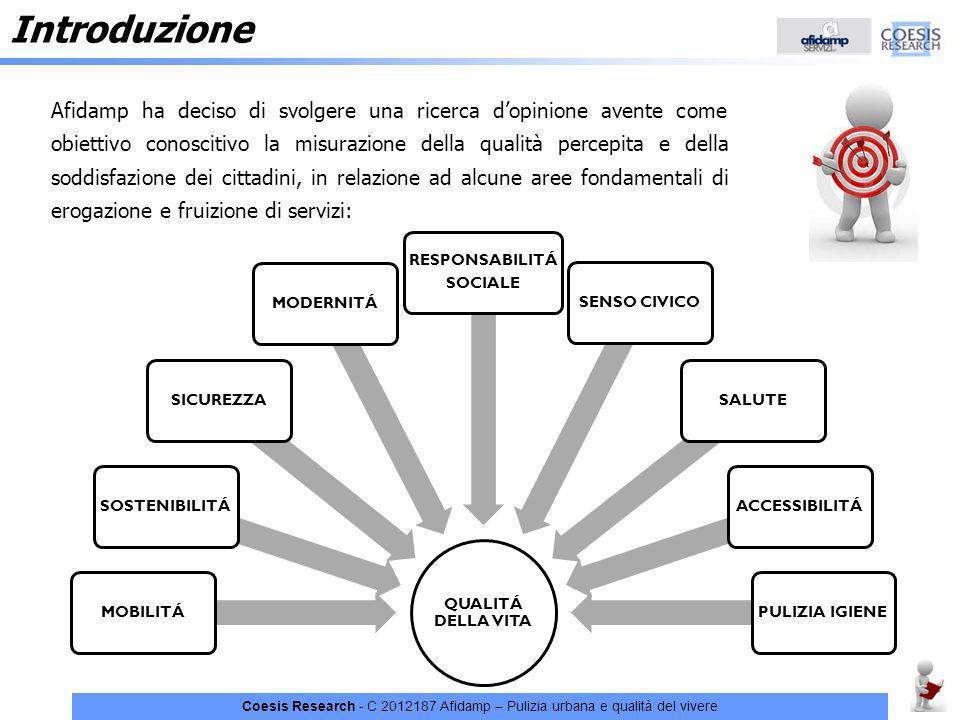 Introduzione C 2012187 Afidamp - Pulizia urbana e qualità del vivere.