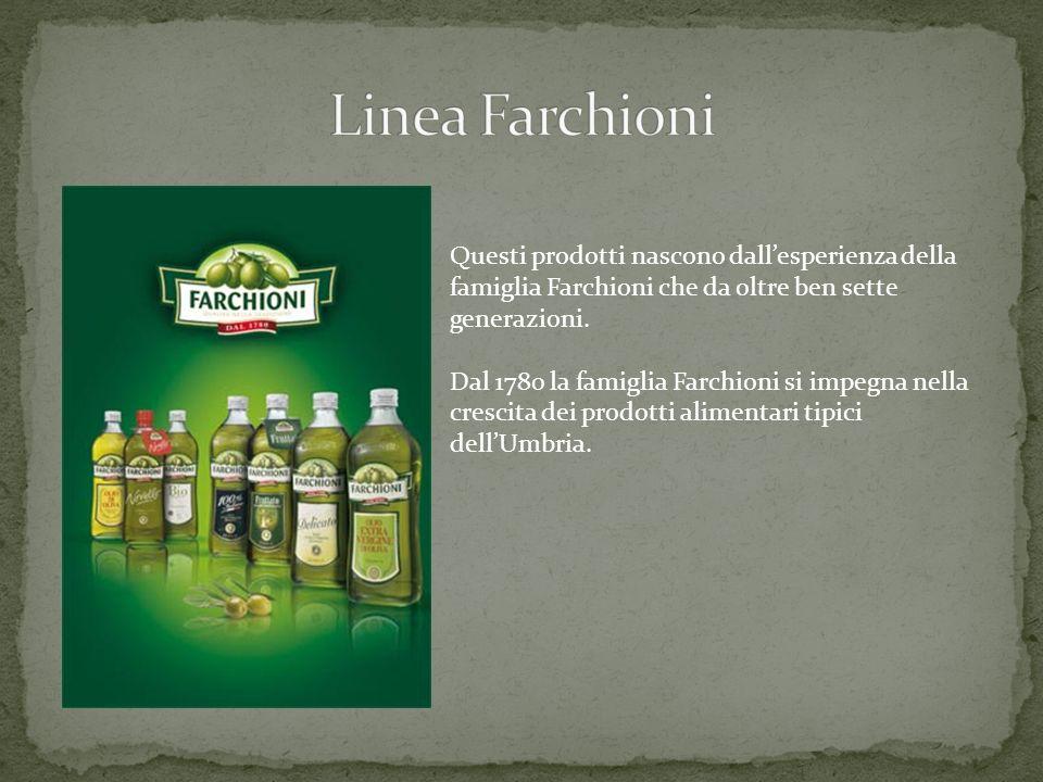 Linea Farchioni Questi prodotti nascono dall'esperienza della famiglia Farchioni che da oltre ben sette generazioni.
