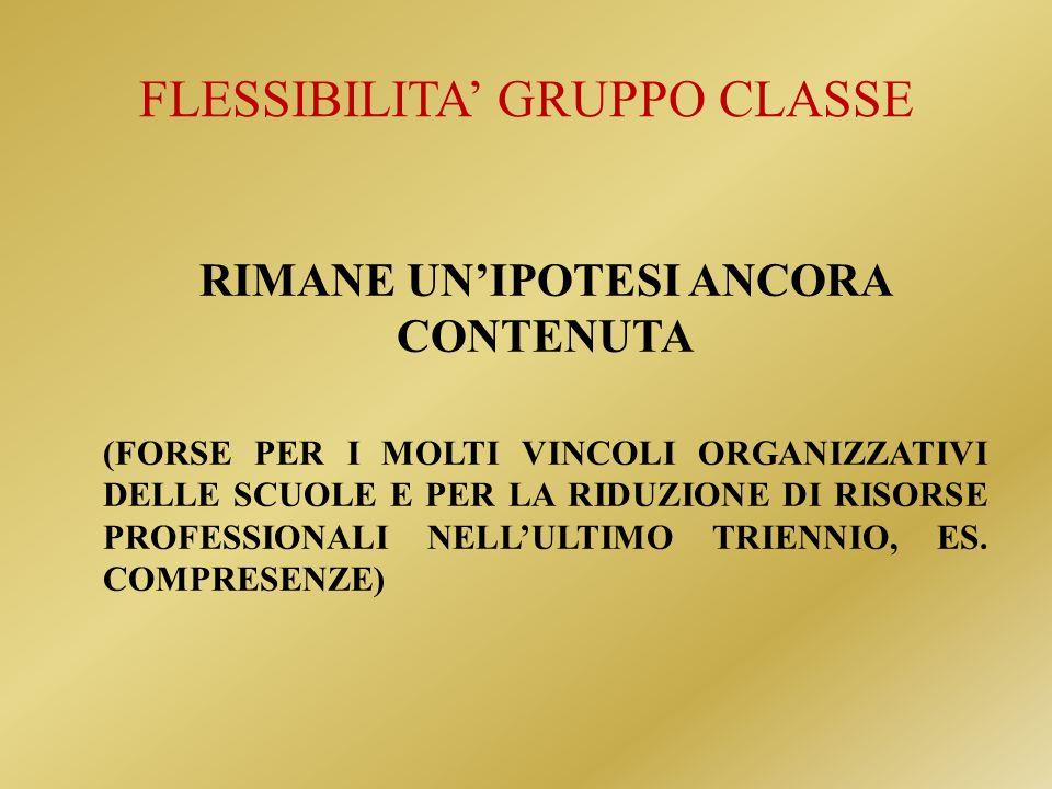 FLESSIBILITA' GRUPPO CLASSE
