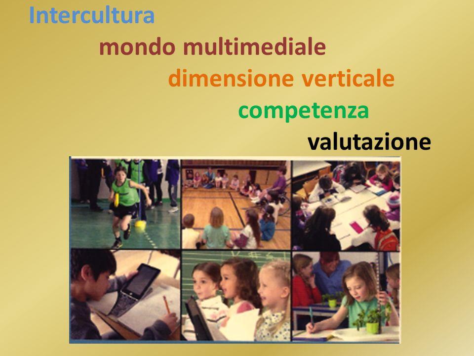 Intercultura. mondo multimediale. dimensione verticale. competenza