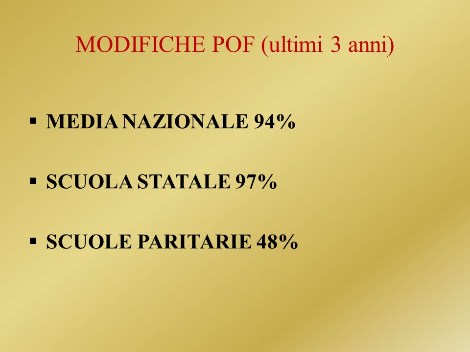 MODIFICHE POF (ultimi 3 anni)