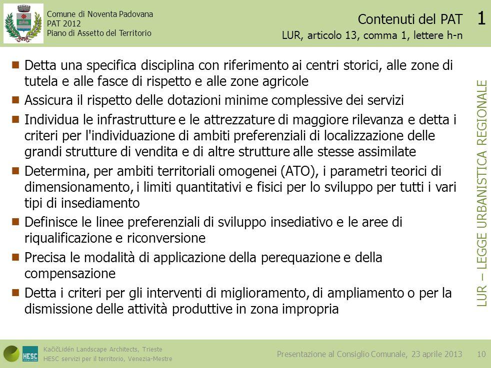 LUR, articolo 13, comma 1, lettere h-n