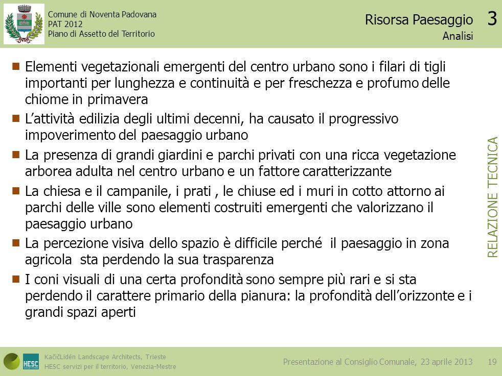 Risorsa Paesaggio 3. Analisi.