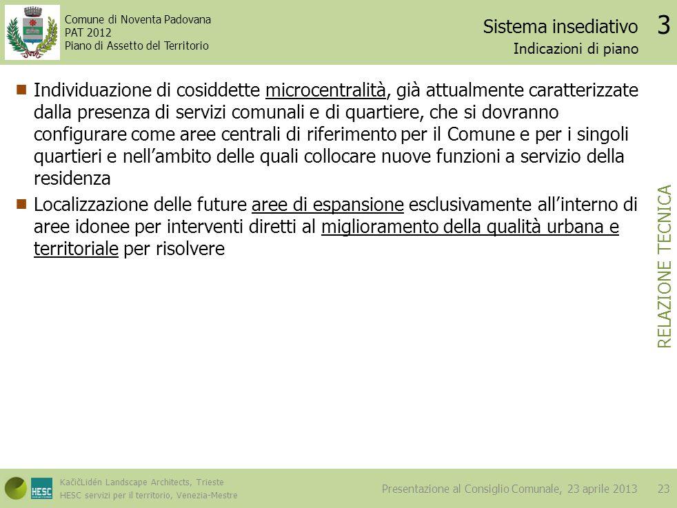 Sistema insediativo 3. Indicazioni di piano.