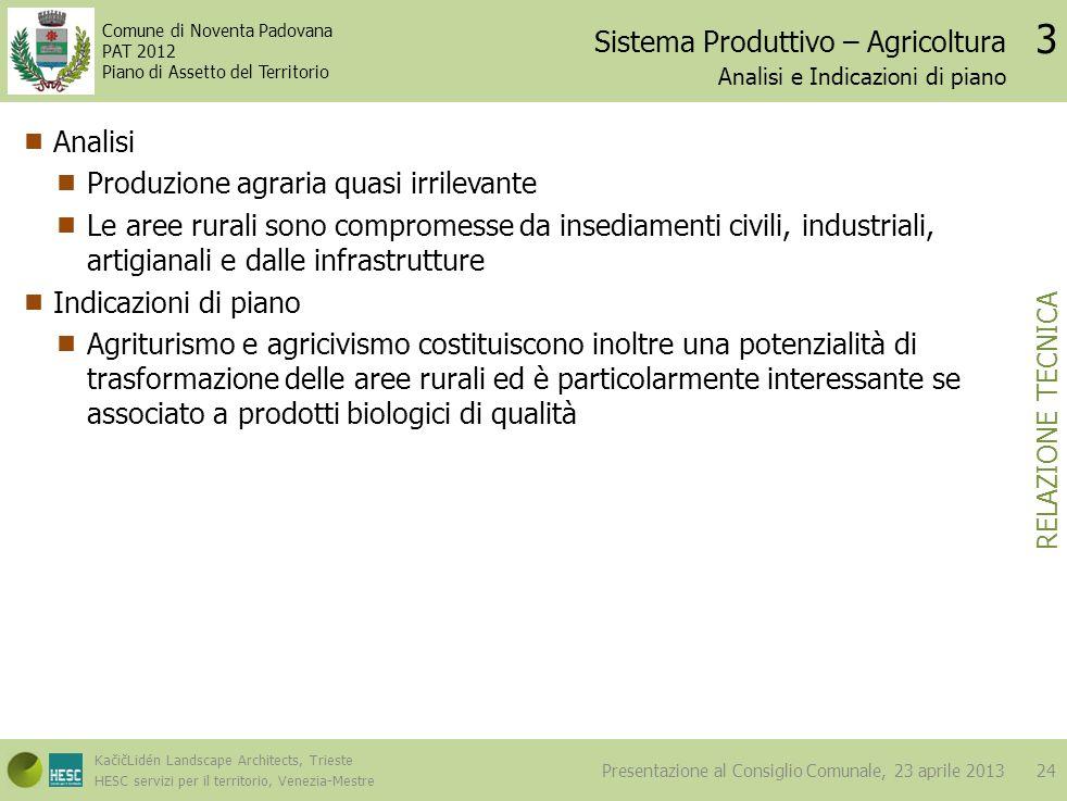 Sistema Produttivo – Agricoltura